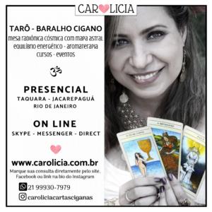Agenda atendimento Carolicia Cartas Ciganas Tarô Aromaterapia