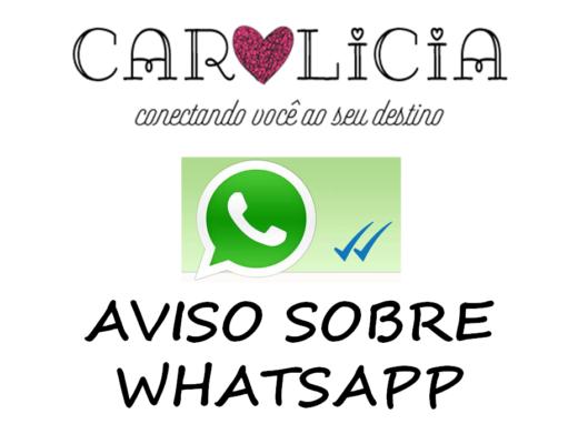 Aviso sobre WhatsApp Carolicia