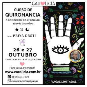 Curso de Quiromancia Outubro 2019 Rio de Janeiro