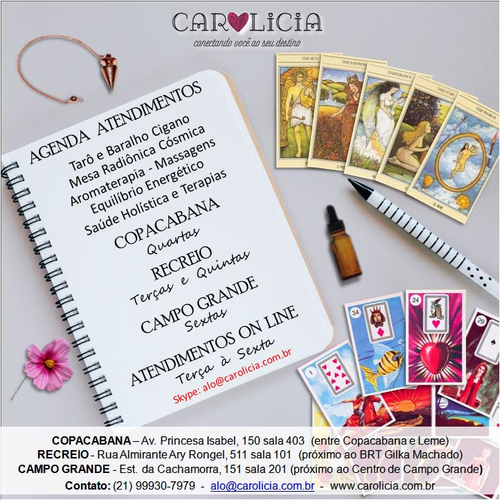 Agenda Atendimentos Carolicia