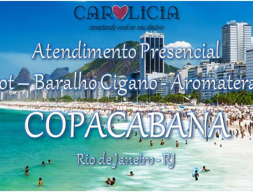 Atendimento Presencial Carolicia em Copacabana Rio de Janeiro com Taro e Baralho Cigano