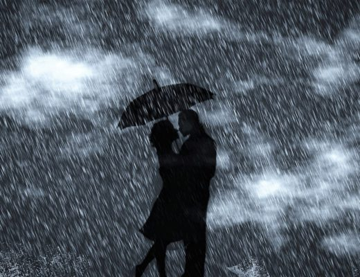 sonho guarda chuva casal