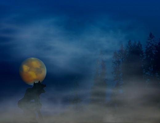 fotografia de uma eclipse lunar.